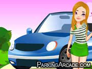 Cute Girl Parking