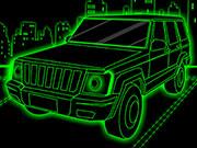 Neon Truck Parking game